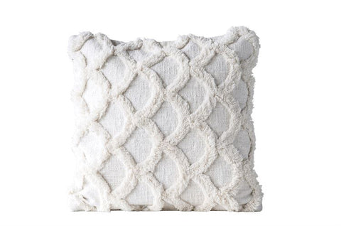 Cotton Chenille Scalloped PIllow