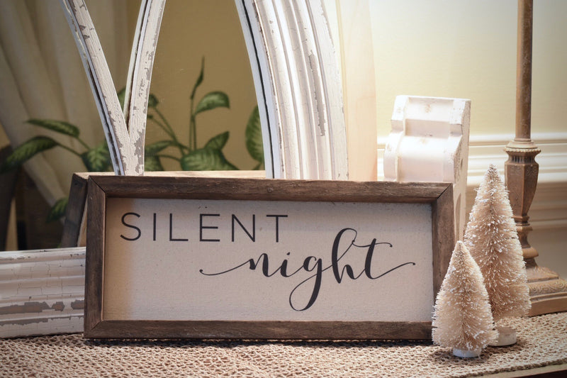"Vintage ""Silent Night"" (Script) Sign"
