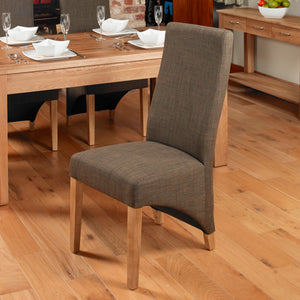 Full Back Dining Chair - Hazelnut (Pack of Two)