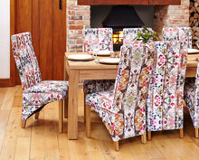 Oak Full Back Upholstered Dining Chair - Modena (Pack of Two)