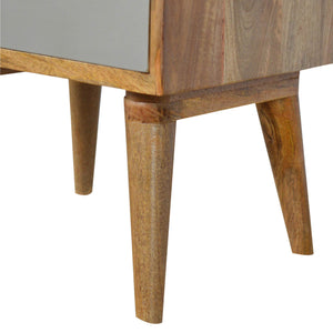 Rolf 3 Drawer Bedside Table