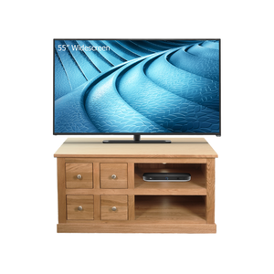 Mobel Oak Four Drawer Media Unit