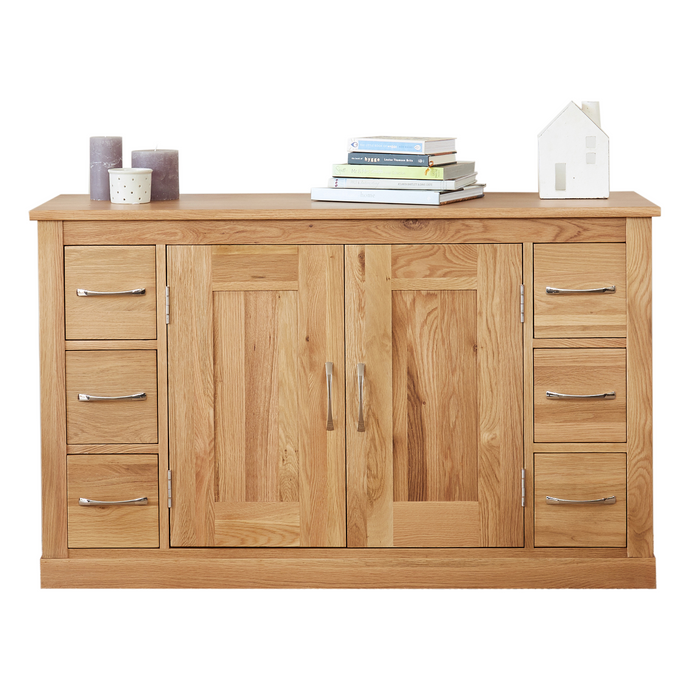 Mobel Oak Six Drawer Sideboard