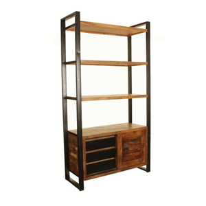 Urban Chic Large Bookcase with Storage