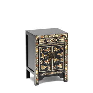 The Nine Schools Oriental Decorated Black Small Cabinet