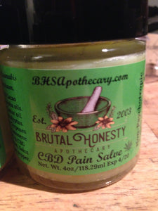 Terpene Pain Salve Topical 2 oz 300 mg - Brutal Honesty Apothecary
