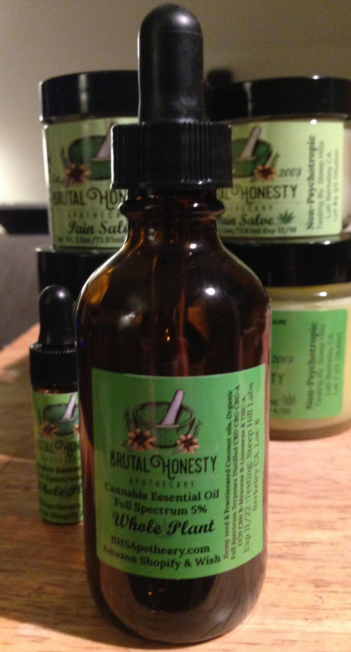 Terpene Wellness Drops 60ml 1000 mg - Brutal Honesty Apothecary