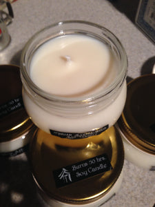 Candle Soy Tobacco Leaf Amber Scented 8 oz - Brutal Honesty Apothecary