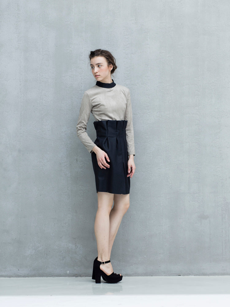 Dress with standing collar - Tenos women