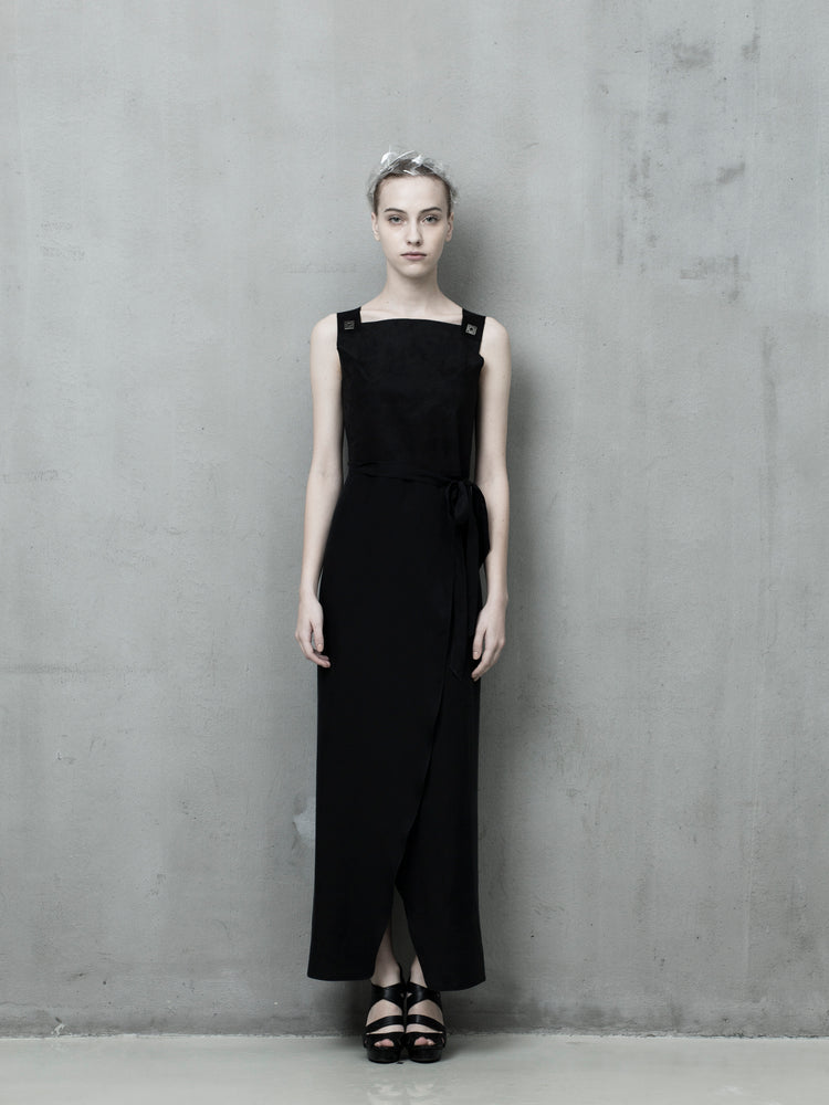 Long black dress - Tenos women