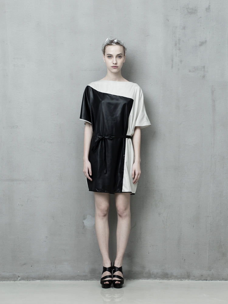 Monochrome T-shirt Dress - Tenos women