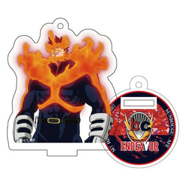 [My Hero Academia] Heroes&Villains Pattern and Color Acrylic Key Chain 24. Endeavor - Character Goods