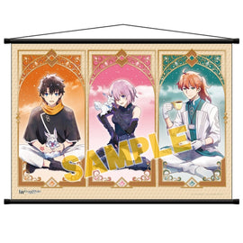 [Fate/Grand Order ] Absolute Demon Battlefront: Babylonia / Wall Scroll (Rikka, Mash, Romani and Merlin) - Character Goods