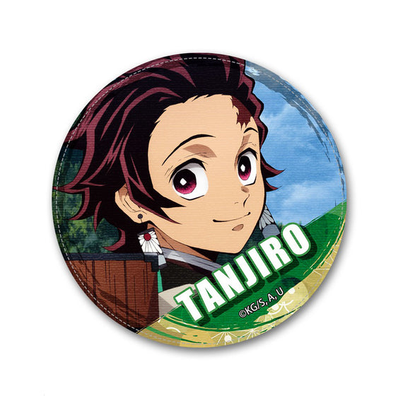 [Demon Slayer] Leather Badge Ver.2 Design 02 Tanjiro Kamado/B - Character Goods