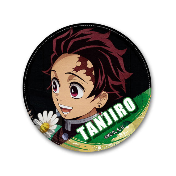 [Demon Slayer] Leather Badge Ver.2 Design 04 Tanjiro Kamado/D - Character Goods