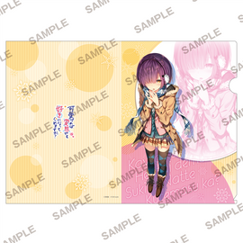[Hensuki: Are you willing to fall in love with a pervert, as long as she's a cutie?] MF Bunko J A4 Winter Outfit - Clear File