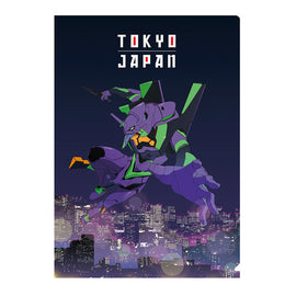 [Evangelion] EVASTORE Clear File Unit-01 Night View - Character Goods