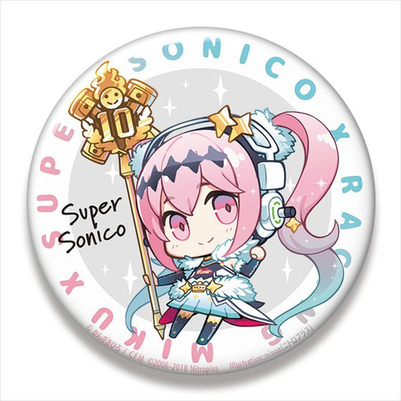 [Racing Miku] Racing Sonico and Racing Miku Big Can Badge / Racing Ver. 2018 - Character Goods