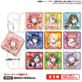 [Love Live! Nijigasaki High School Idol Club] Trading Square Acrylic Key Holder - C97 Exclusive Item