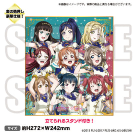 [Love Live! ALL STARS] Shikishi Board Aqours - Character Goods