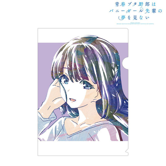 [Rascal Does Not Dream of Bunny Girl Senpai] Ani-Art Clear File Shoko Makinohara - Character Goods