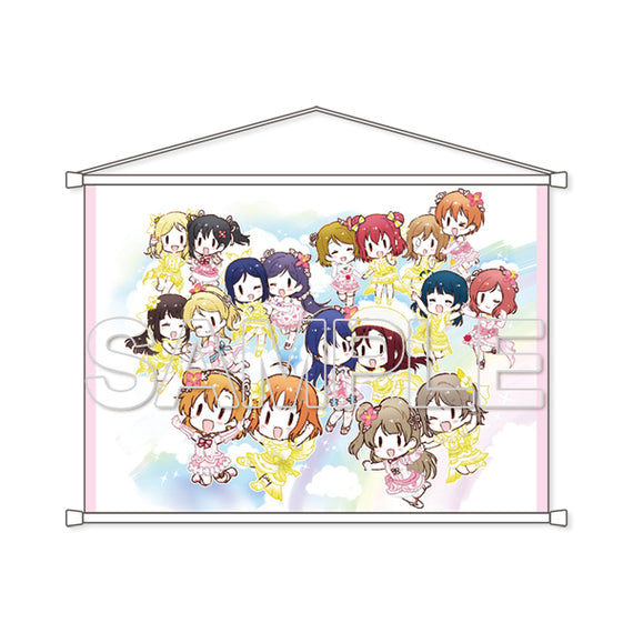 [Love Live!] Series B2 Tapestry μ's & Aqours - Wall Scroll