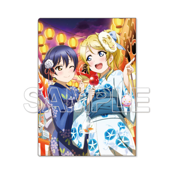 [Love Live!] Clear File μ's Umi & Eri - Character Goods