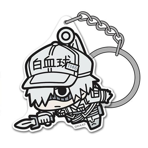 [Cells at Work!] White Blood Cell Acrylic TSUMAMARE Key chain - Character Goods