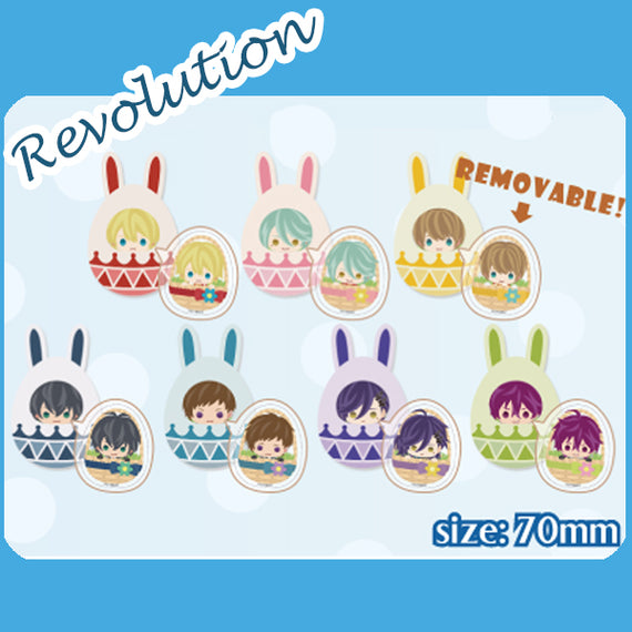 [Ikemen Series] Acrylic Buttons (with Rubber case) - Ikemen Revolution