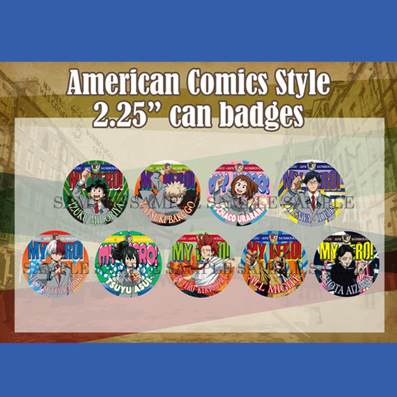 [My Hero Academia] Can Badge Collection –American Comic style - Blind pack