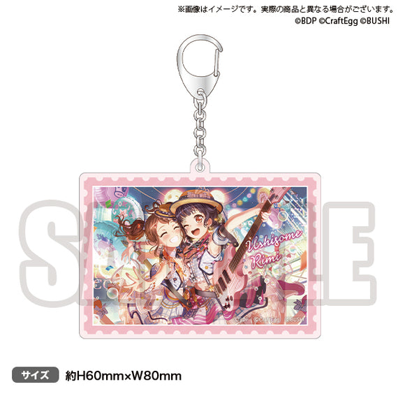 [BanG Dream! Girl's Band Party!] NO GIRL NO CRY Poppin'Party Acrylic Keychain Rimi Ushigome - Character Goods