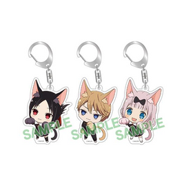 [Kaguya Sama: Love is War] Kaguya Kitty / Miyuki Kitty / Chika Kitty Keychain - Character Goods