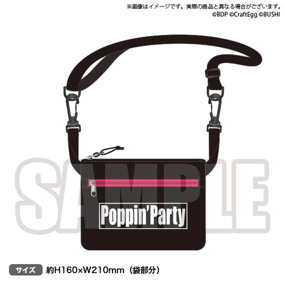 [BanG Dream! Girl's Band Party!] Travel Pouch Poppin'Party - Character Goods
