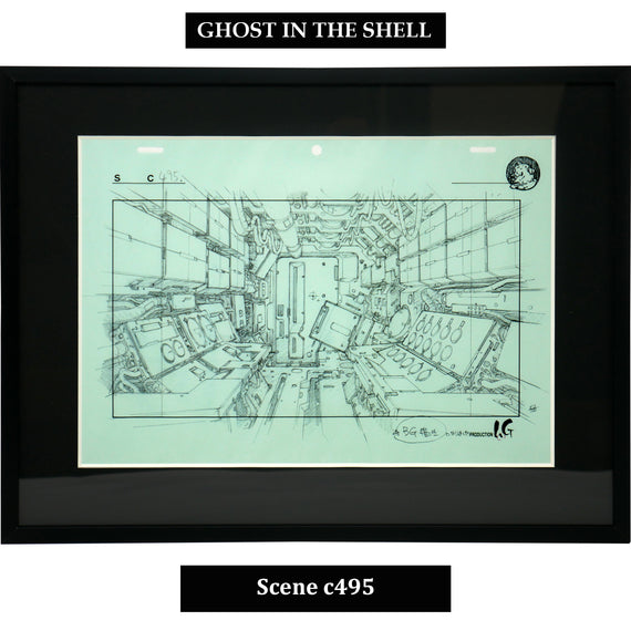 [Ghost in the Shell] Key Art Reproductions Scene c495 - Fine Arts