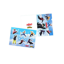 [My Hero Academia] Heroes in Snow Mountain File Folder & Sticker Set - Clear File