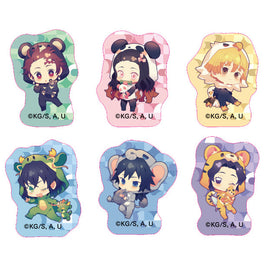 [Demon Slayer] Small Stickers (Costume Ver.) - Animate Overseas Exclusive