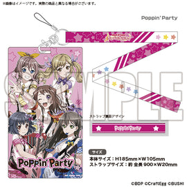 [BanG Dream! Girl's Band Party!] Ticket Holder Poppin' Party - Character Goods