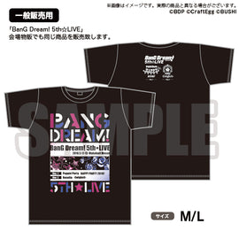 [BanG Dream! Girl's Band Party!] 5th☆LIVE  T-Shirt M/L