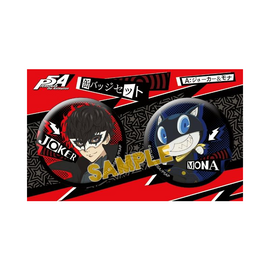 [Persona5] Joker&Mona / Skull&Panther - Badge set