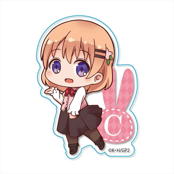 [Is the Order a Rabbit?] Tekutoko Clear Badge (5 Types) - Character Goods
