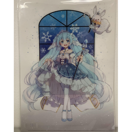 [Snow Miku] Clear File Folder 1. Hatsune Miku - Clear File