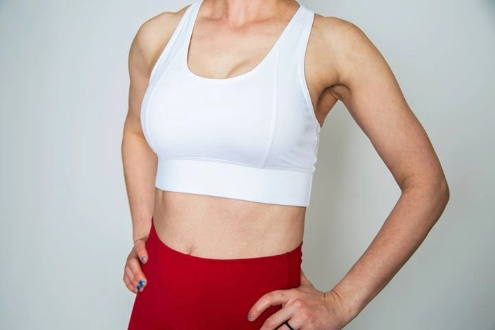 White High-impact Sports Bra