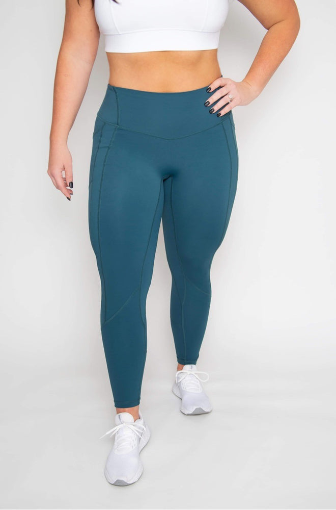 Heart-shape 7/8 Length Legging - Dark Teal