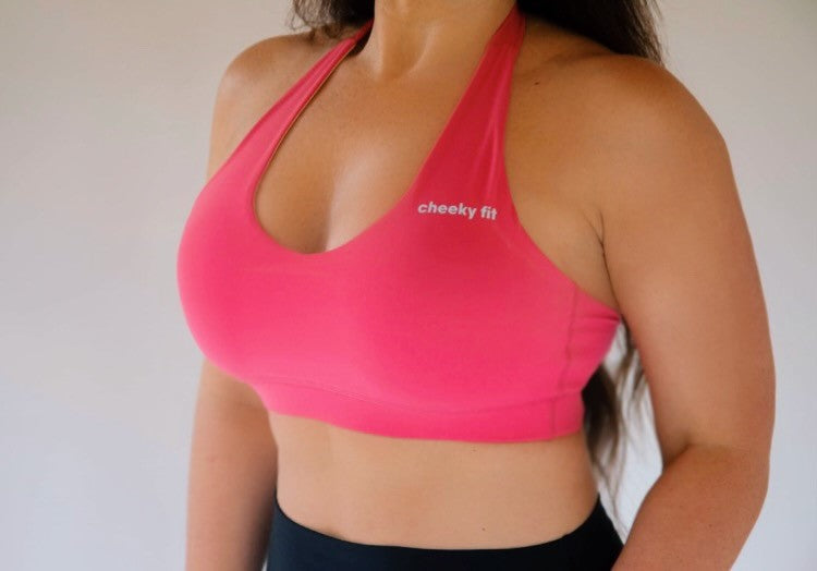 Halter Bra - Hot Pink