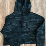 Crop Hoodie - Stealth Camo