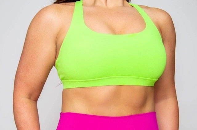 FINAL SALE! Criss Cross Sports Bra -- NEON GREEN