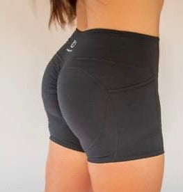 "4"" Mild-Scrunch Pocket Shorts - Black"