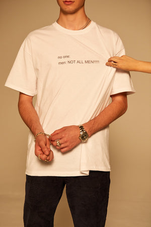NOT ALL MEN Twitter Meme Basic Tee