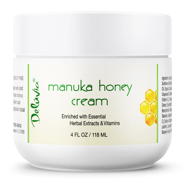 Manuka Honey Cream 4oz - Deluvia