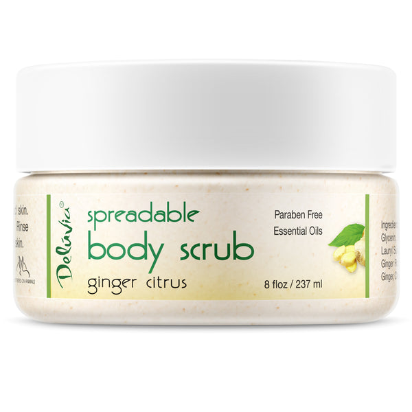 Ginger Citrus Spreadable Body Scrub 8oz - Deluvia